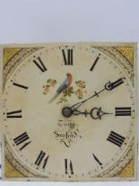 Lot 133 - A 19th Century 30 hour longcase clock with a square painted dial, set within an oak case.
