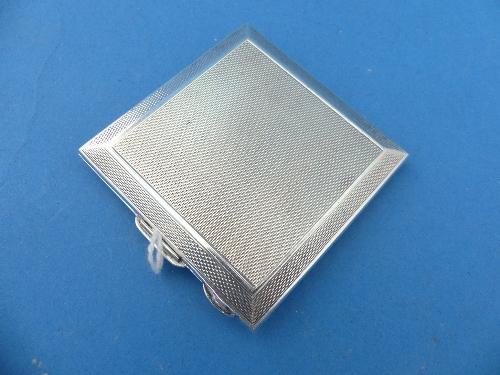 Lot 28 - A George VI silver and enamel Powder Compact, by W Garner Ltd, hallmarked Birmingham, date letter
