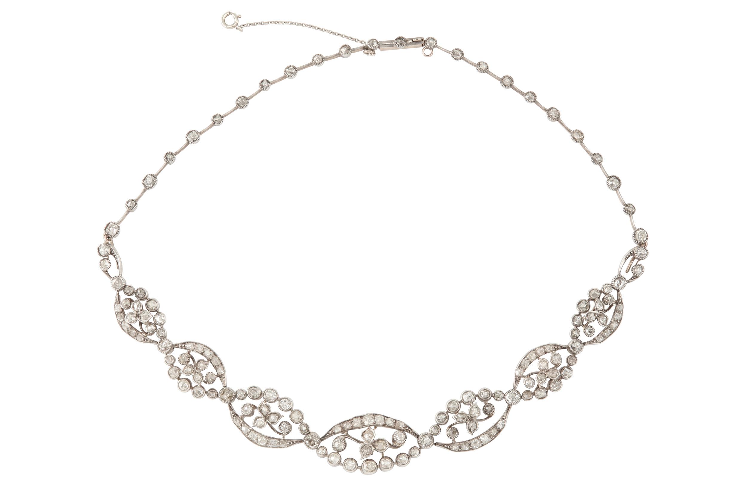 Lot 1 - A diamond tiara / necklace, early 20th century