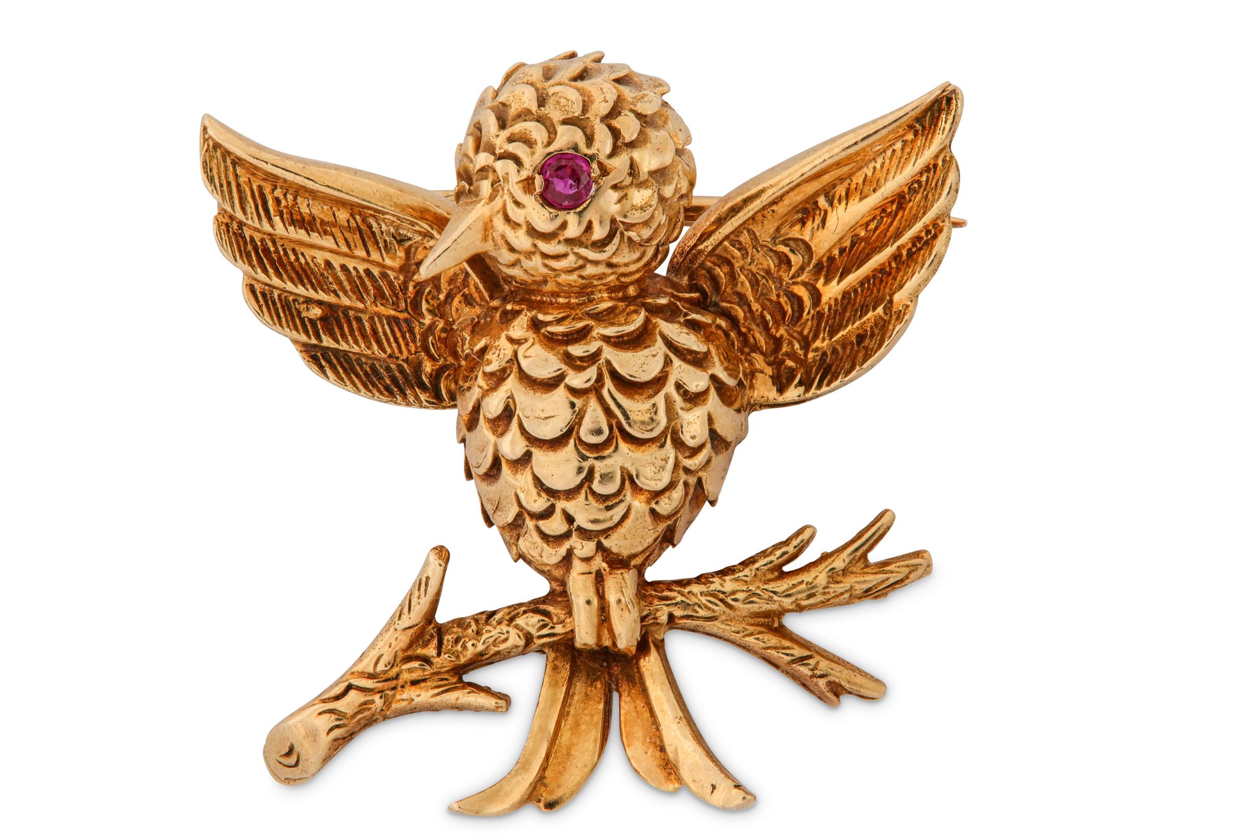 Lot 34 - A novelty bird brooch, by Boucheron