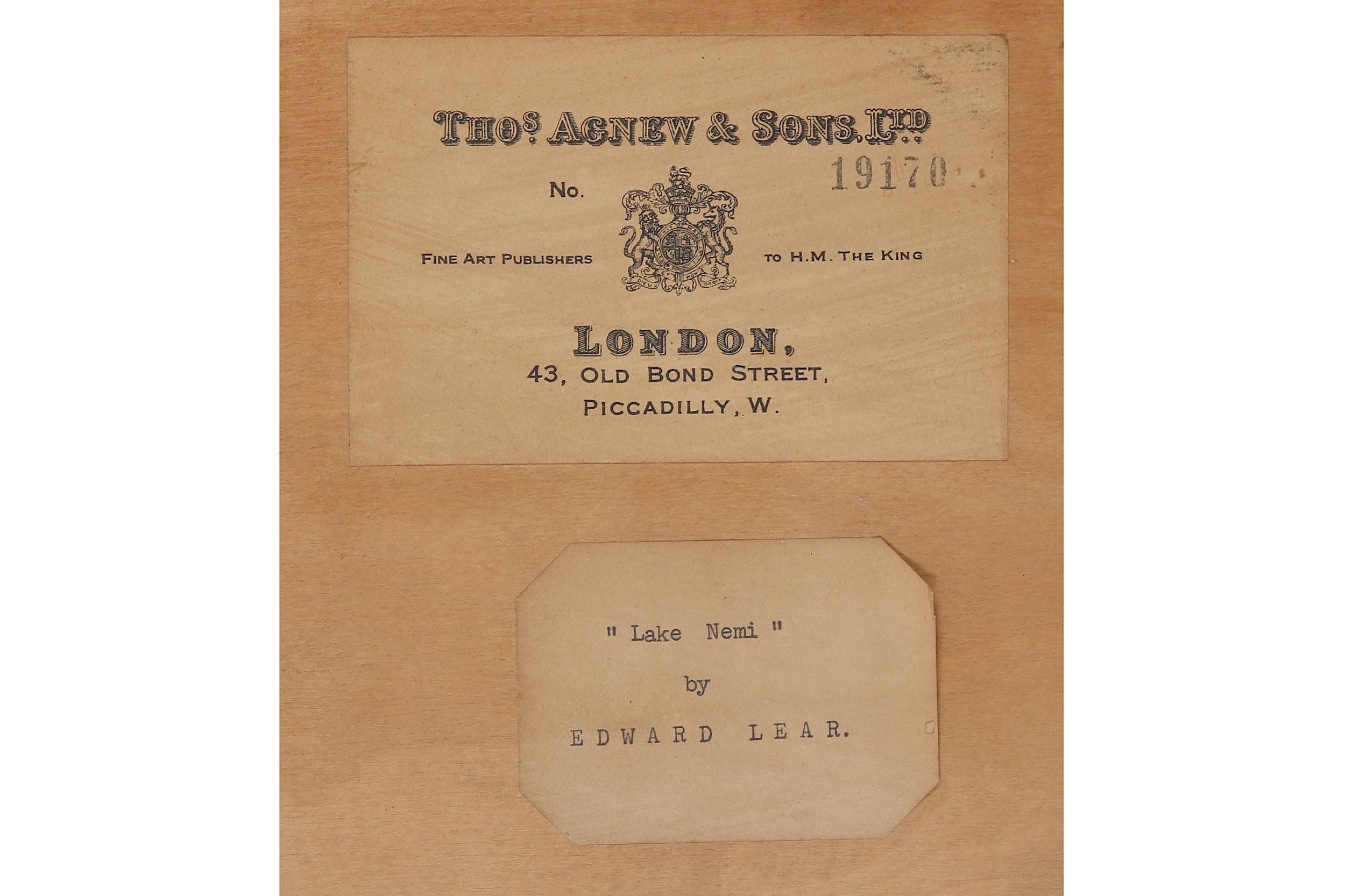 EDWARD LEAR (BRITISH 1812 - 1888) - Image 4 of 4