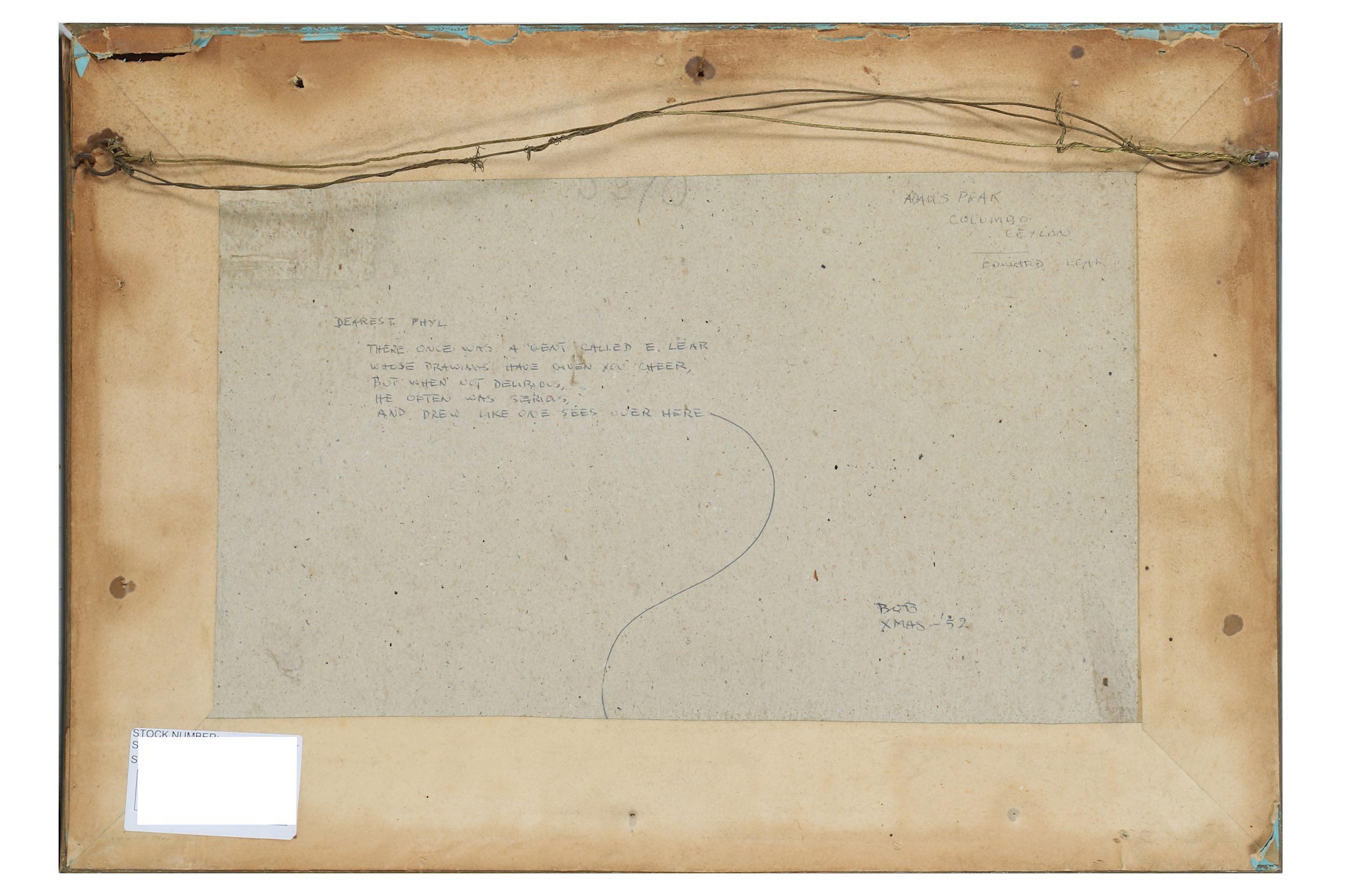 EDWARD LEAR (BRITISH 1812 - 1888) - Image 2 of 5