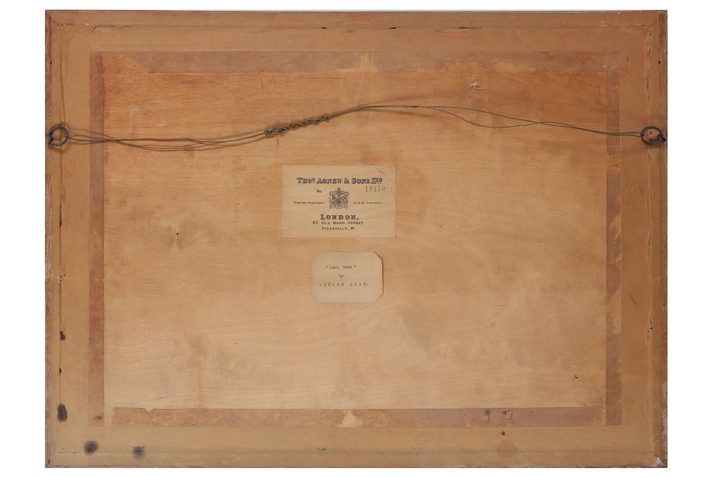 EDWARD LEAR (BRITISH 1812 - 1888) - Image 3 of 4