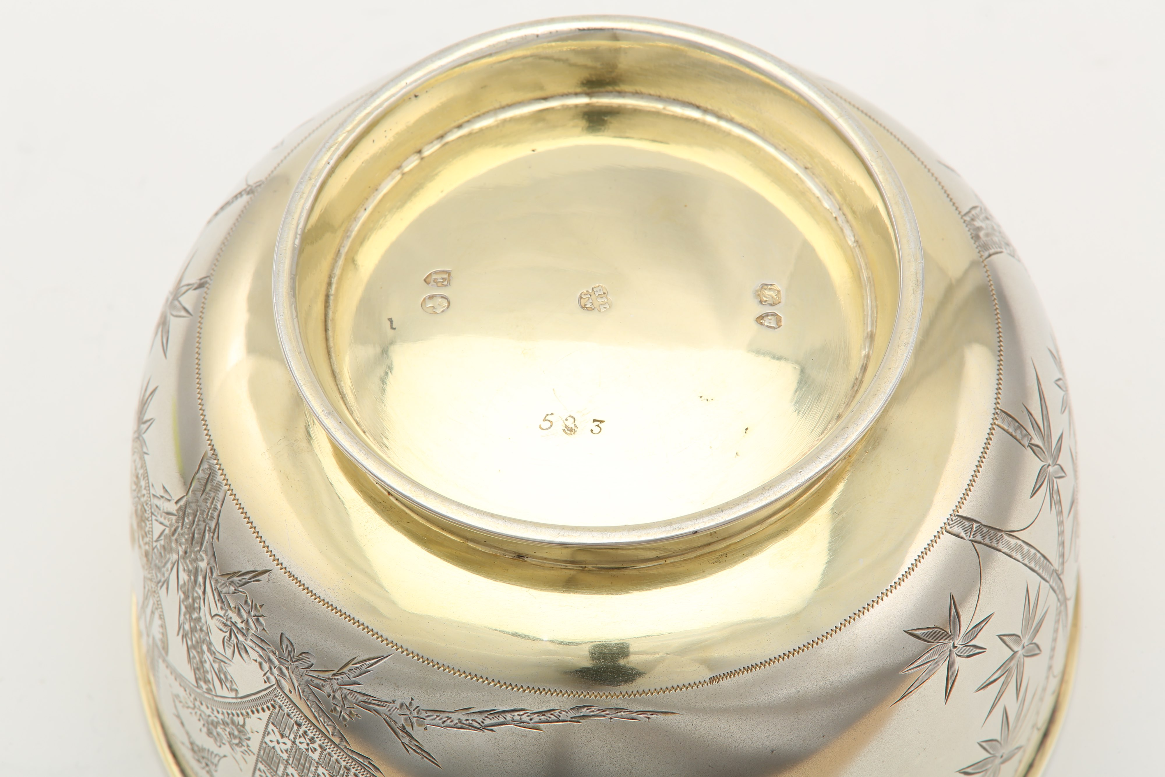 Lot 23 - A Victorian parcel gilt sterling silver sugar bowl, London 1880 by Henry John Lias & James Wakely