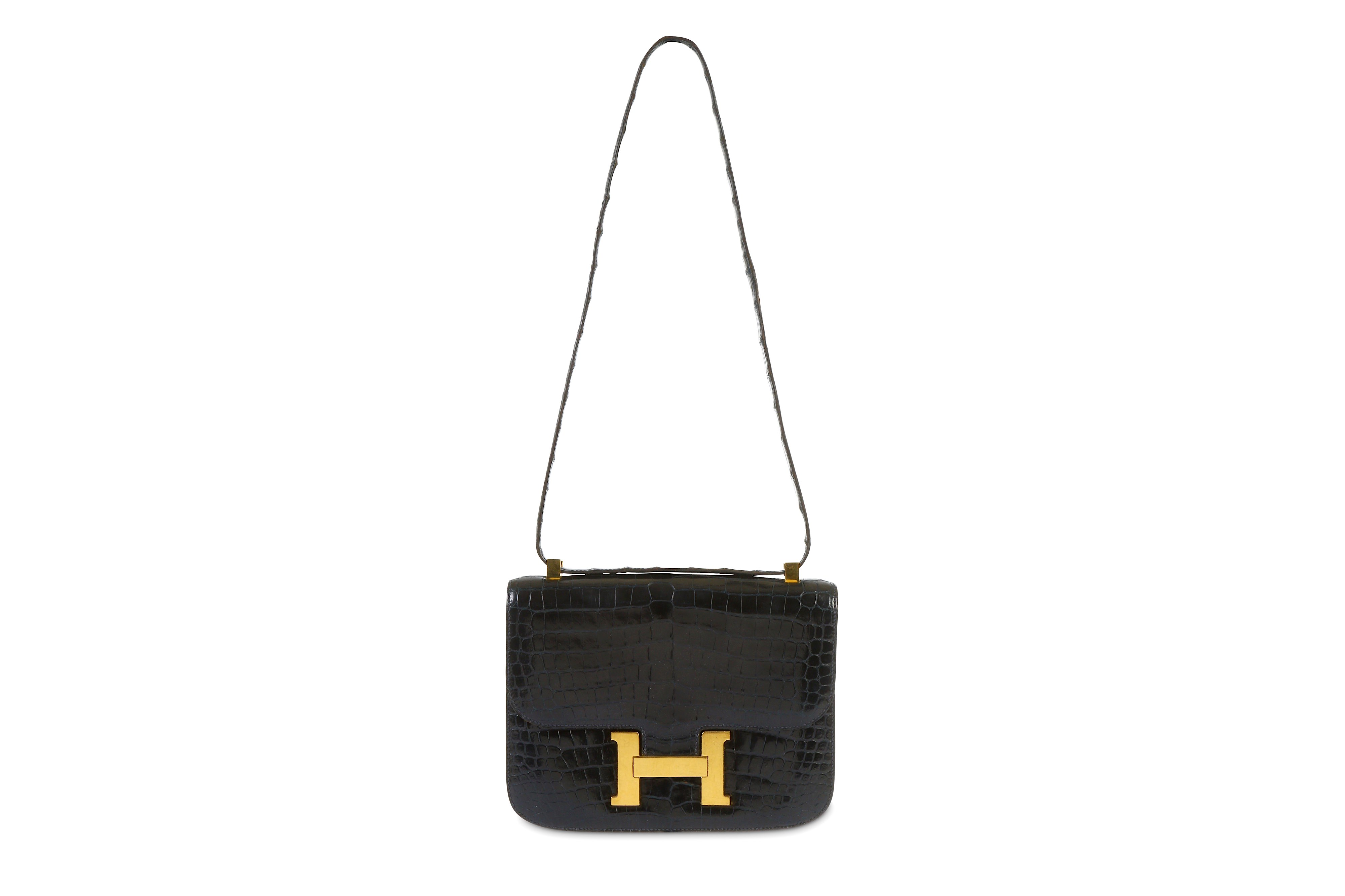 Lot 239 - Hermès Black Crocodile Constance 25