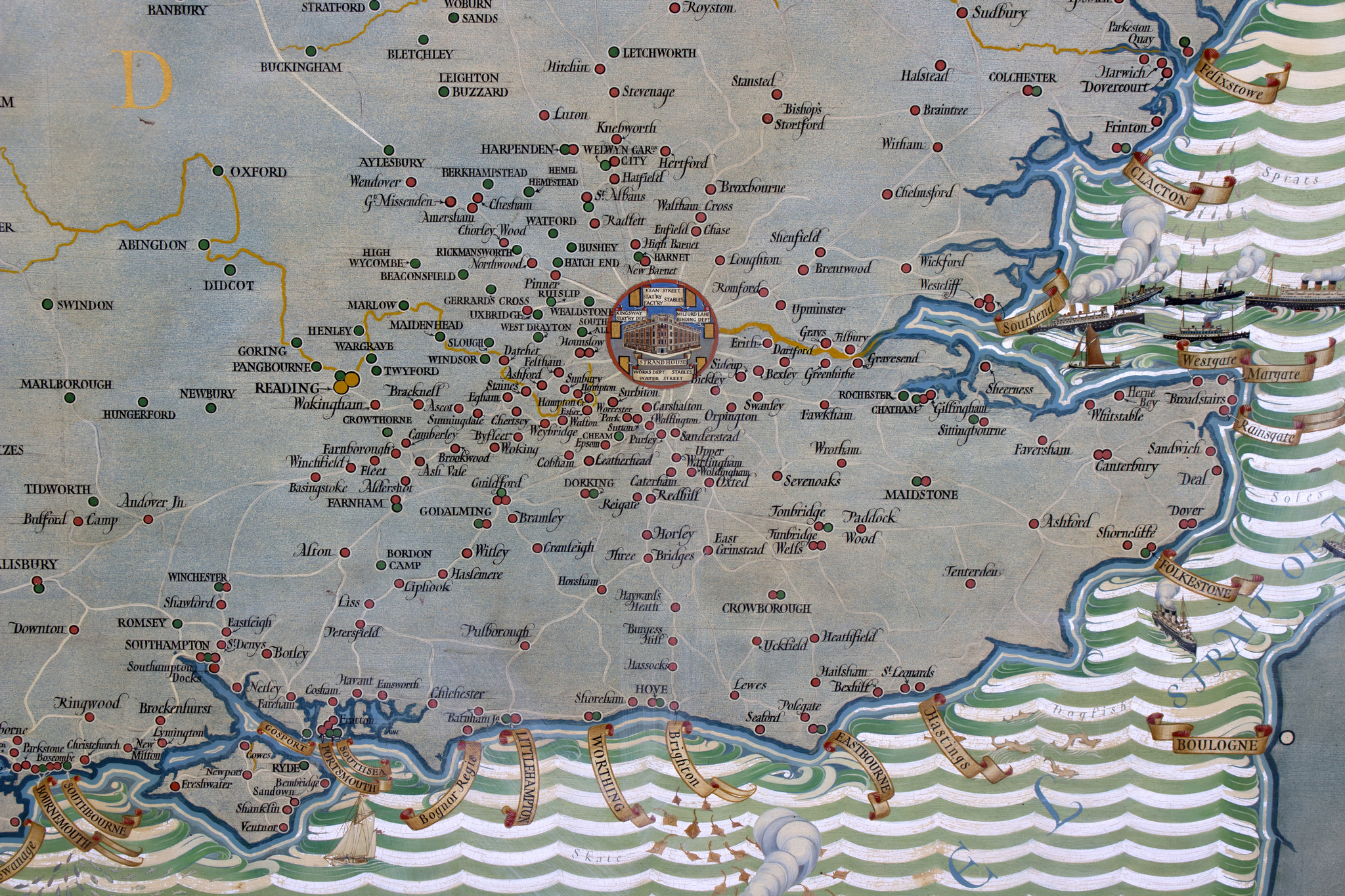 Lot 149 - MacDonald Gill (British 1884-1947)/A Map of England,