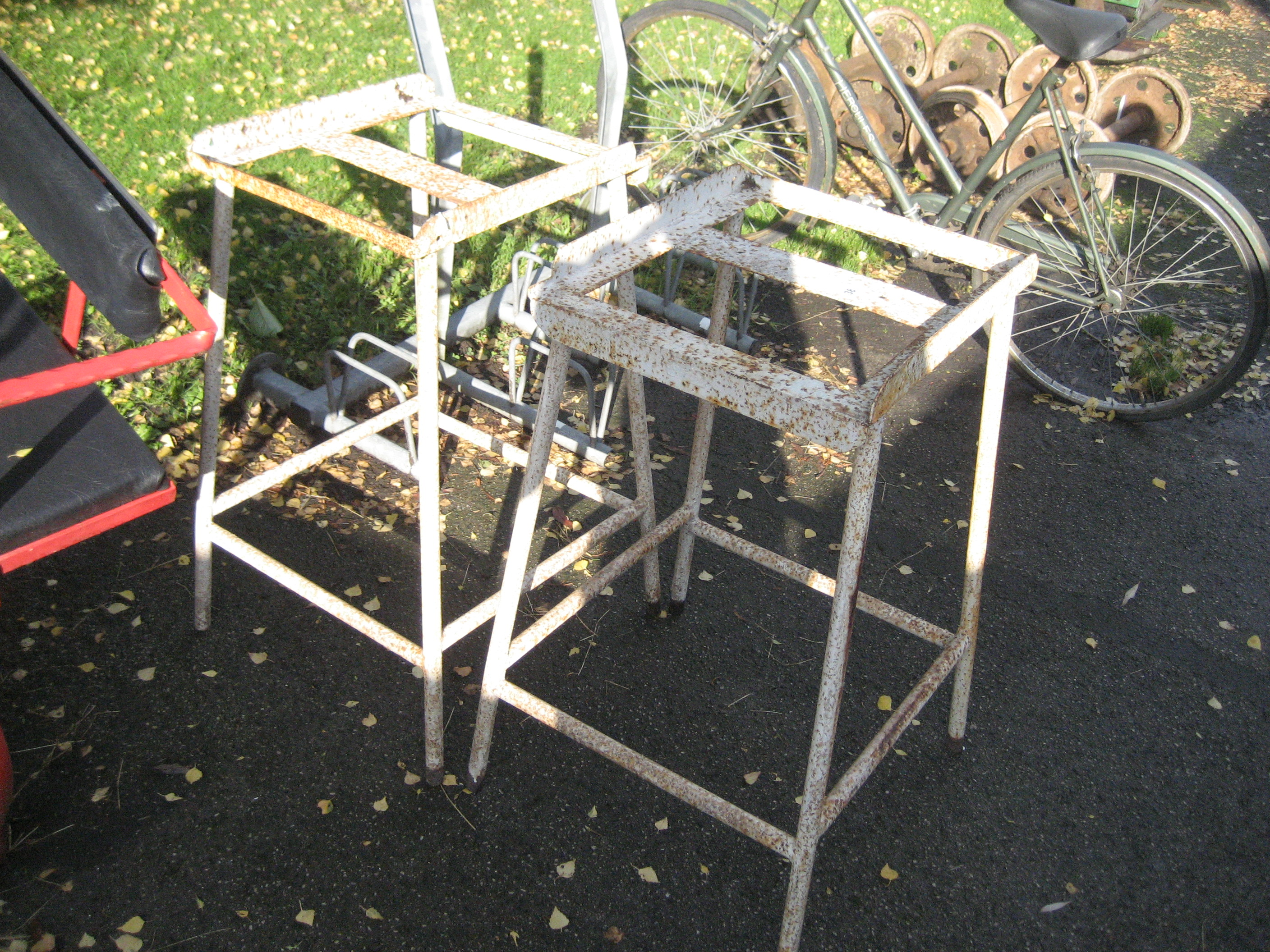 Lot 38 - 2 INDUSTRIAL TABLE STANDS