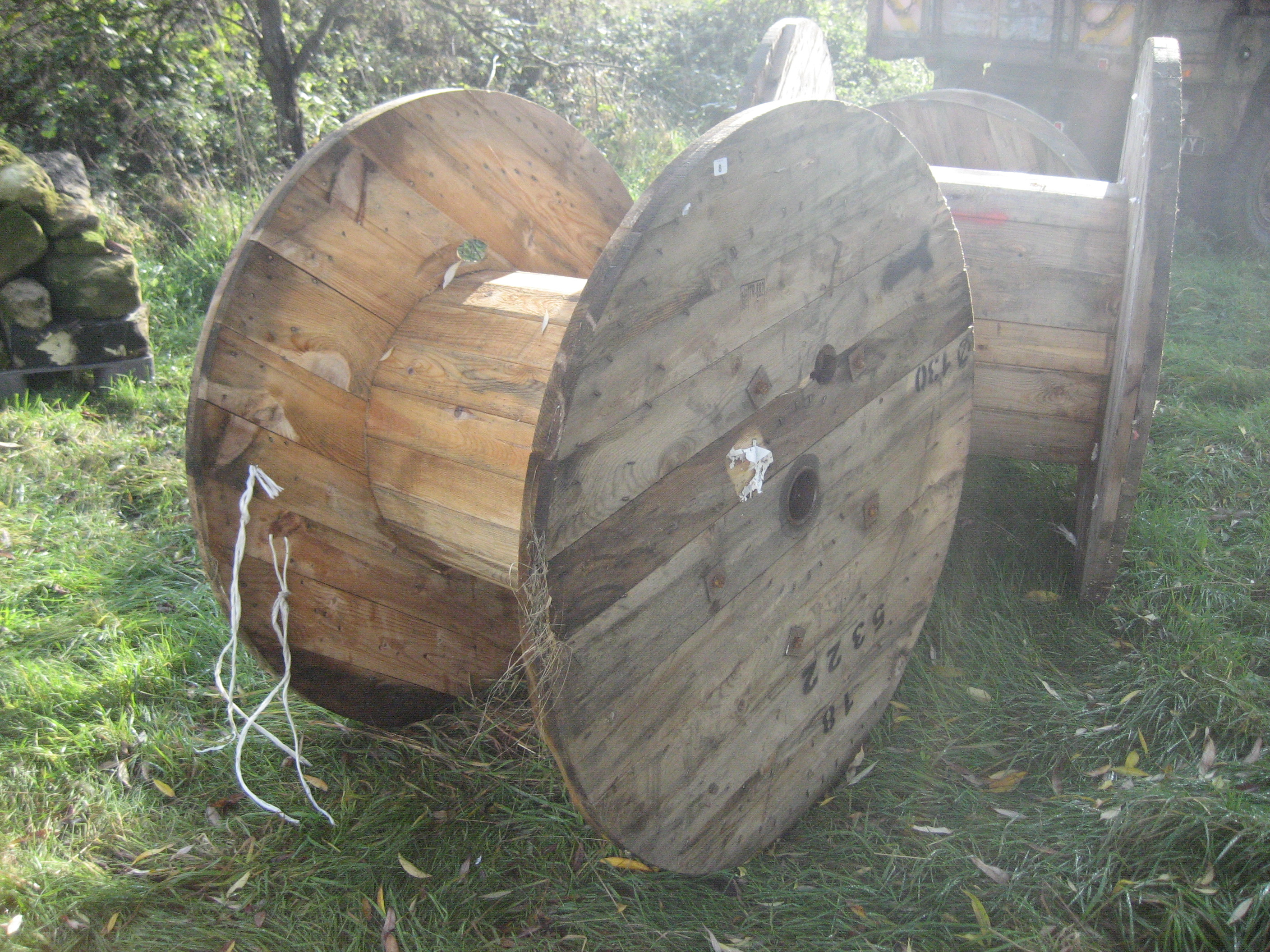 Lot 8 - WOODEN CABLE REEL