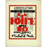 Robert le Noir - Georges Turpin. La Foire. Avec 10 eaux-fortes de Robert le Noir. Paris 1931. Zehn