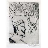 Otto Pankok. Rundgang im Gefängnishof. - Gefangener. Zwei Radierungen. 1923. 19,0 : 13,5 cm (31,