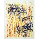 Max Ernst. Têtes d'aigles. Farblithographie. 1962. 31,8 : 24,6 cm (38,0 : 28,4 cm). Signiert.