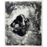Marc Chagall. Vier Radierungen aus »La Fontaine Fables«. 1952. Ca. 29 : 24 cm (39 : 30 cm). In den