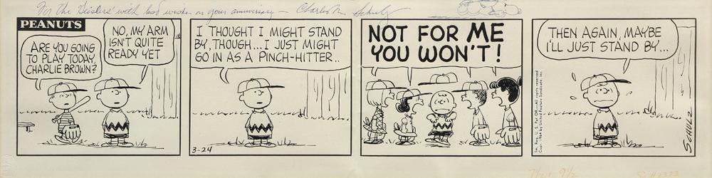 Lot 7343 - Daily comic, Charlez M. Schulz