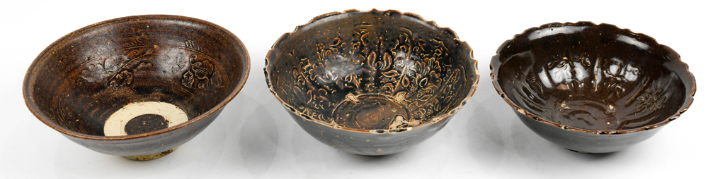 Lot 8558 - Vietnamese Brown Glaze Ceramic Bowls