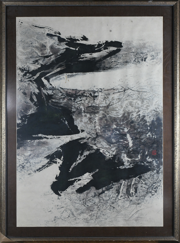 Lot 8580 - Liu Guosong/Liu Kuo-sung, Abstract Landscape