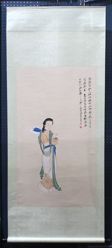 Lot 5171 - Manner of Zhang Daqian (Chinese, 1899-1983), Beauty, ink and color on paper, upper right with