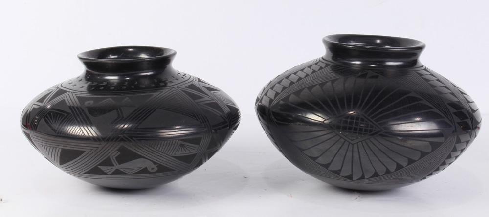 Lot 4679 - (lot of 2) Casa Grandes Pottery blackware