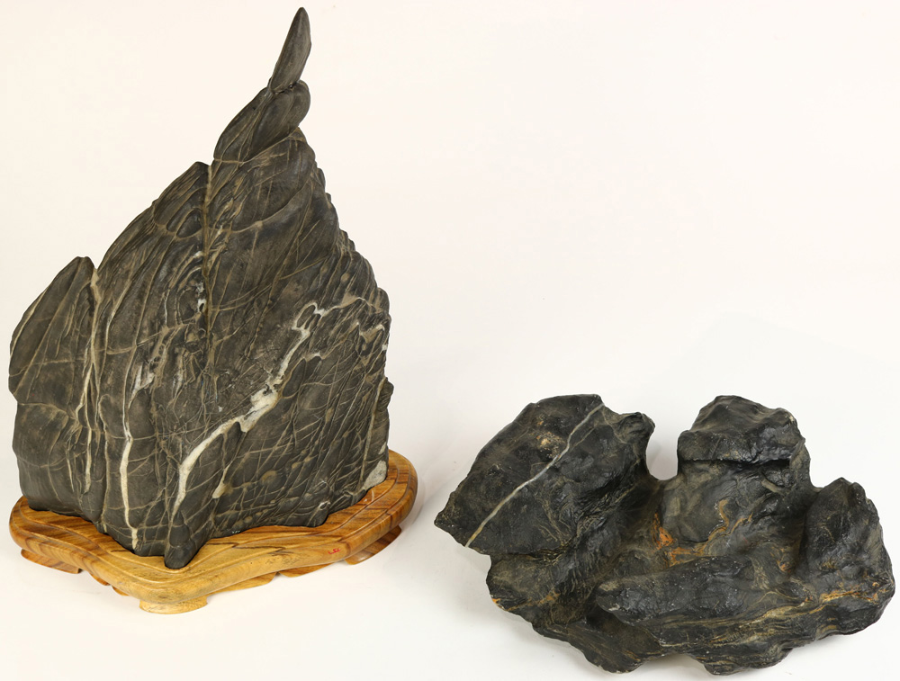 Lot 8074 - (Lot of 2) Chinese Scholar's Rocks