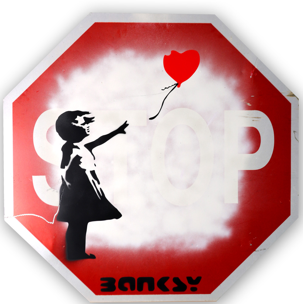 Lot 4167 - Spray Paint, Manner of Banksy