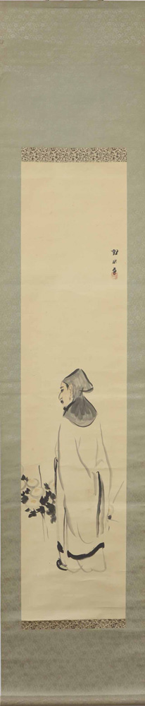 Lot 4106 - Japanese Hanging Scrolls, Poet, Kannon