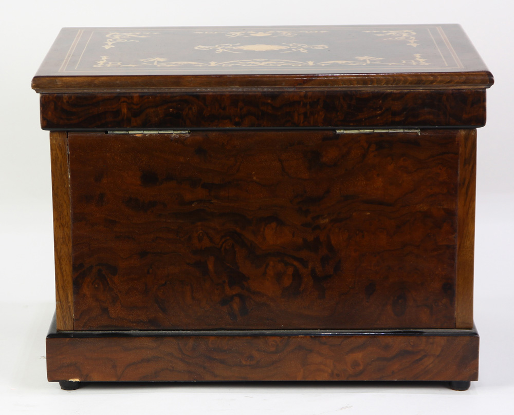 Lot 6012 - French Neoclassical style marquetry decorated tantalus