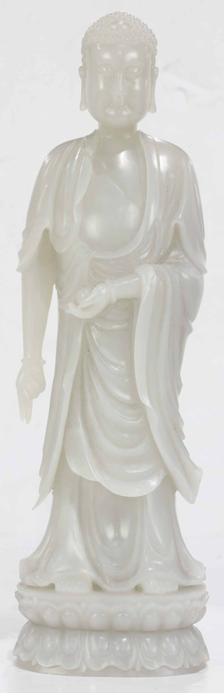 Lot 8037 - Chinese Pale White Carved Hardstone Figure