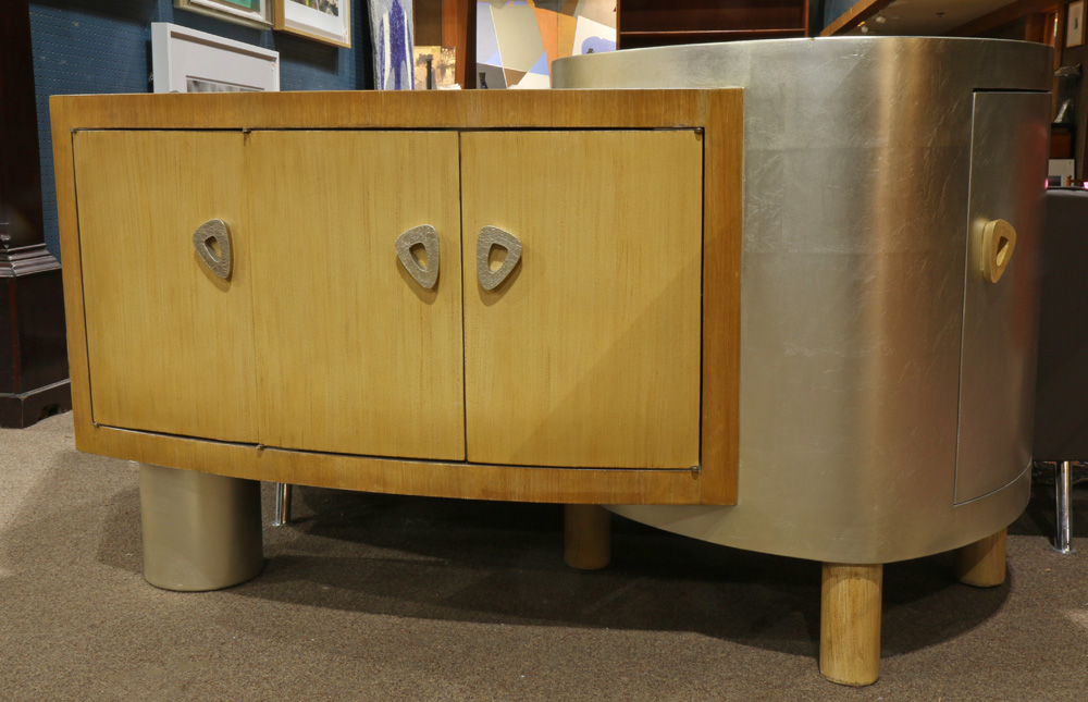 Lot 6820 - Moderne partial silvered cabinet