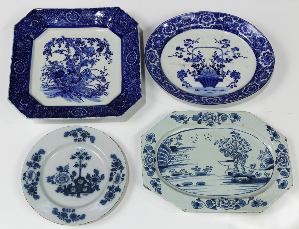 Lot 4597A - (lot of 9) Early English Delftware group