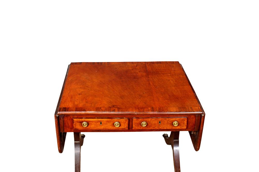 Lot 6297 - English Regency rosewood and mahogany table circa 1810