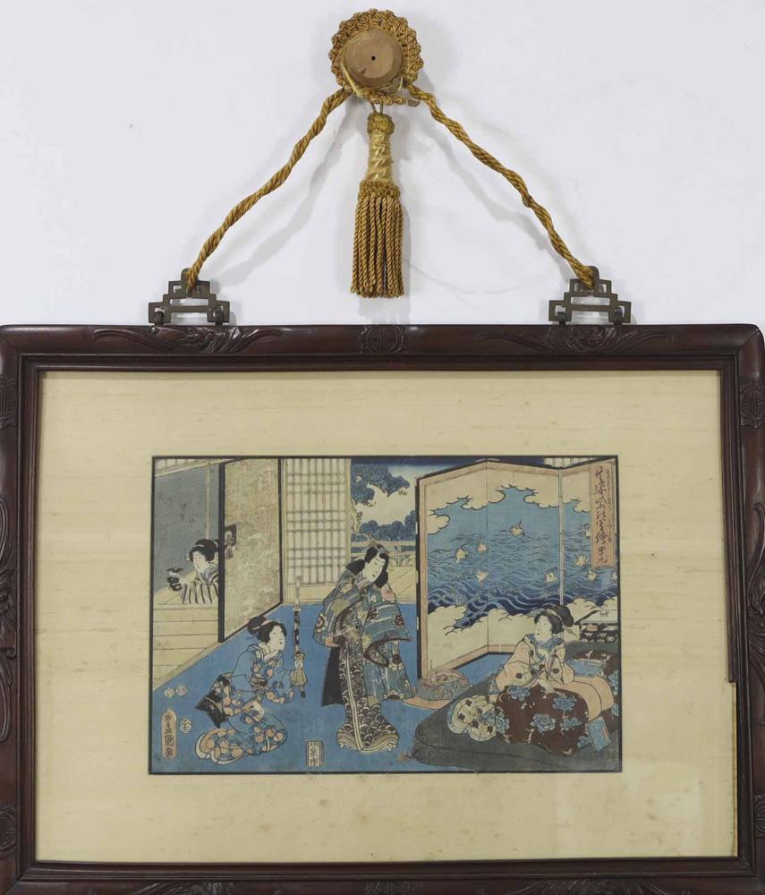 Lot 4095 - japanese Woodblock Print, Toyokuni III