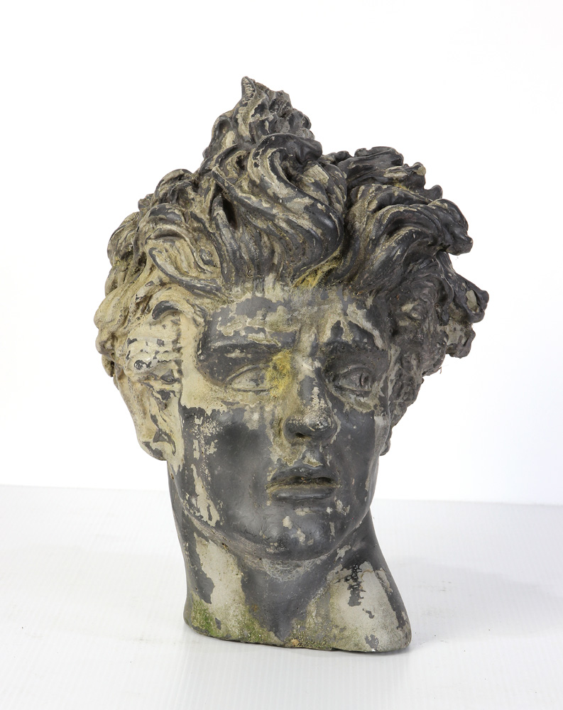 Lot 4603 - After the Antique, cast head of a young man with flowing locks