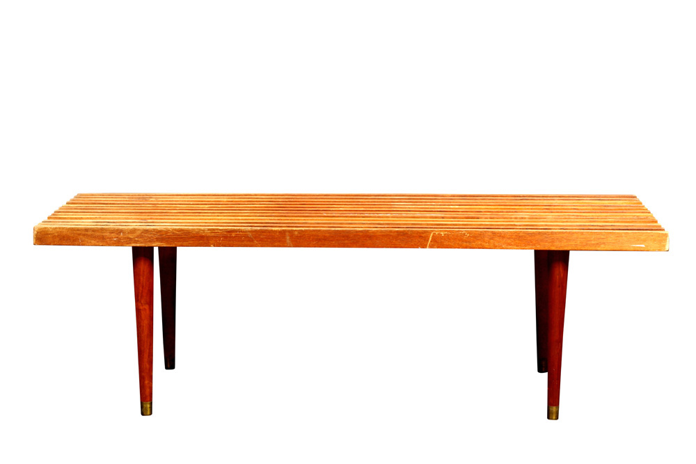 Lot 6625 - George Nelson style slotted bench