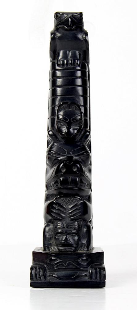 Lot 4716 - Tom Hans Argillite carved totem