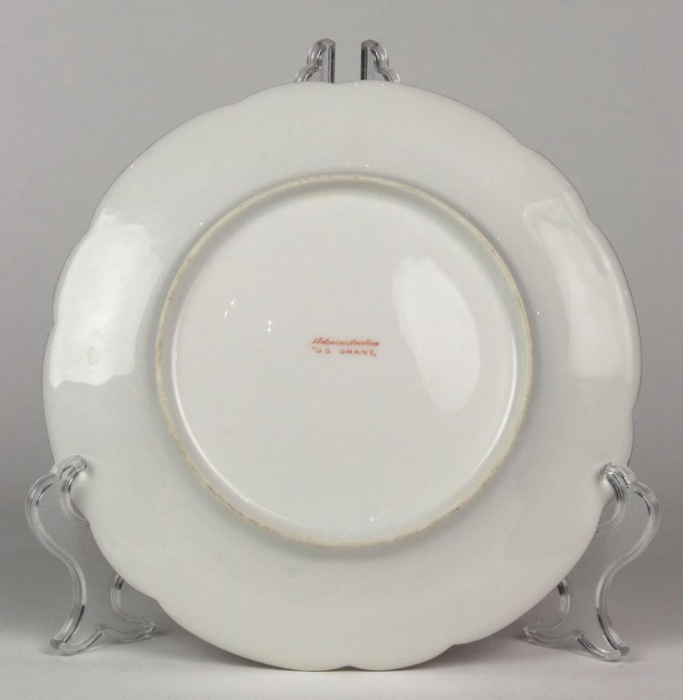 Lot 4627 - US Grant Administration dessert plate, 19th century