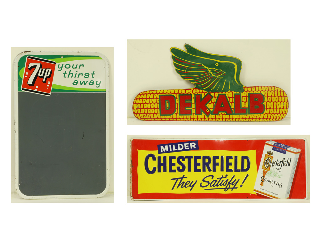 Lot 6835 - (lot of 3) Vintage sign group