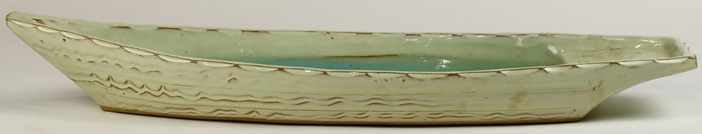 Lot 4055 - Japanese ceramic Ikebana Boat
