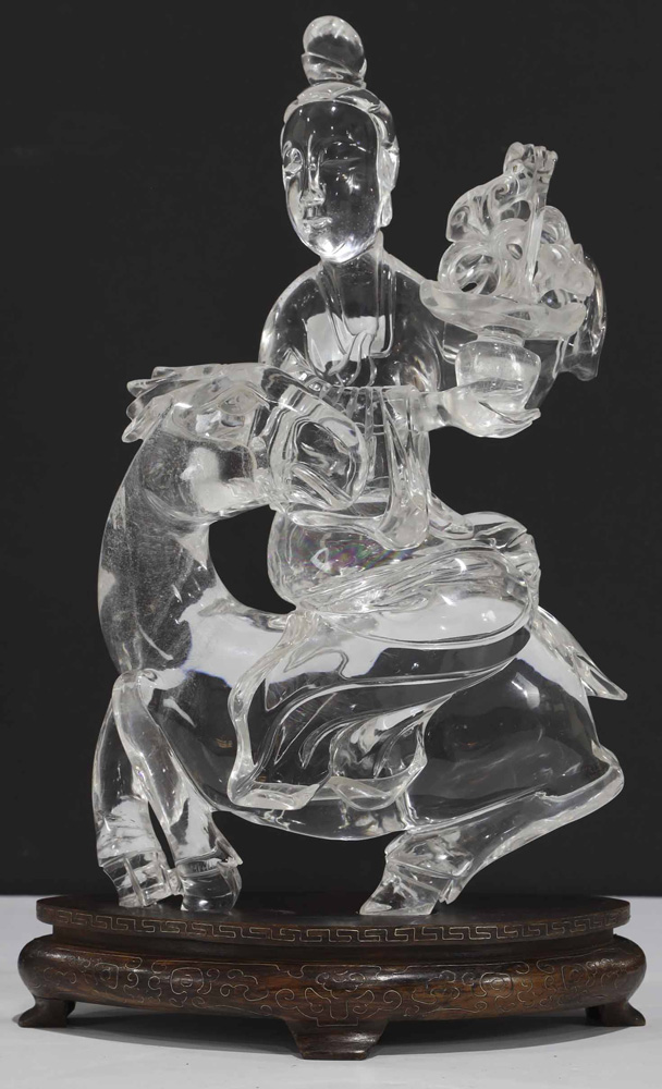Lot 8034 - Chinese Carved Rock Crystal Figure