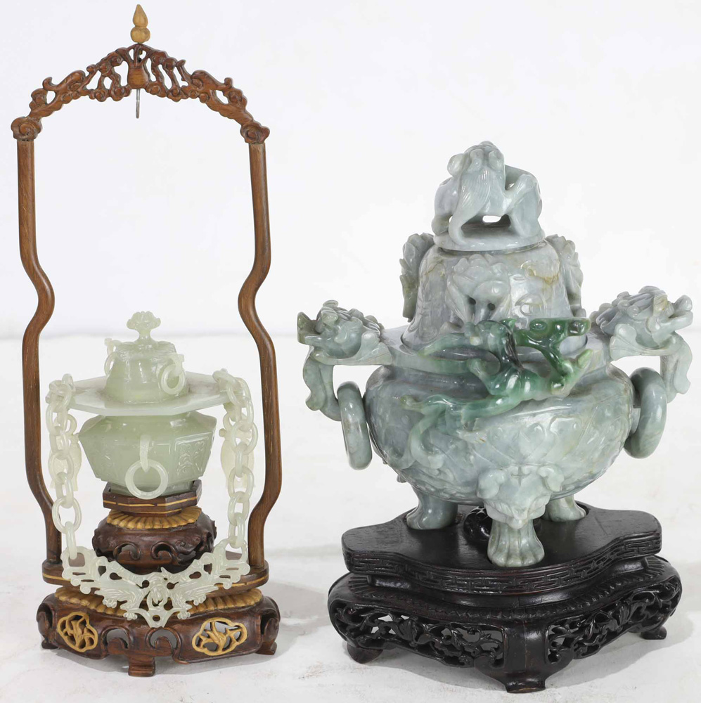 Lot 4021 - Two Chinese Hardstone Carvings