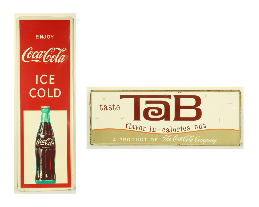 Lot 6832 - (lot of 2) Vintage Coca-Cola tin sign