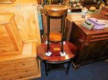 Lot 9 - A 19thC. mahogany table with fretwork decor & a ma