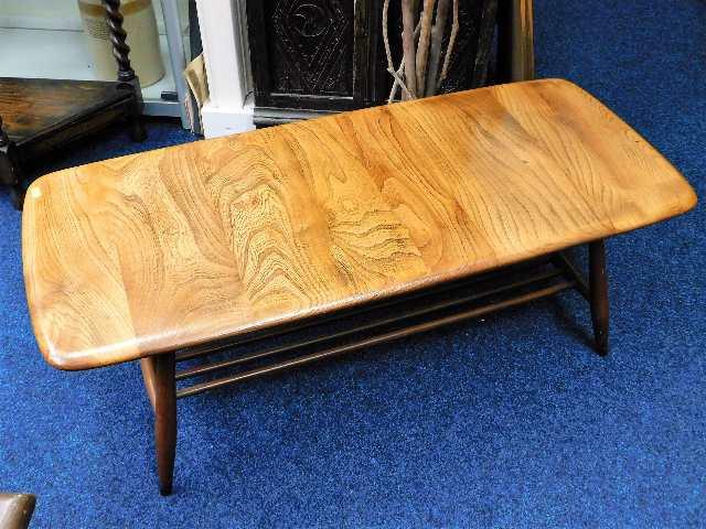 Lot 96 - An Ercol elm retro coffee table