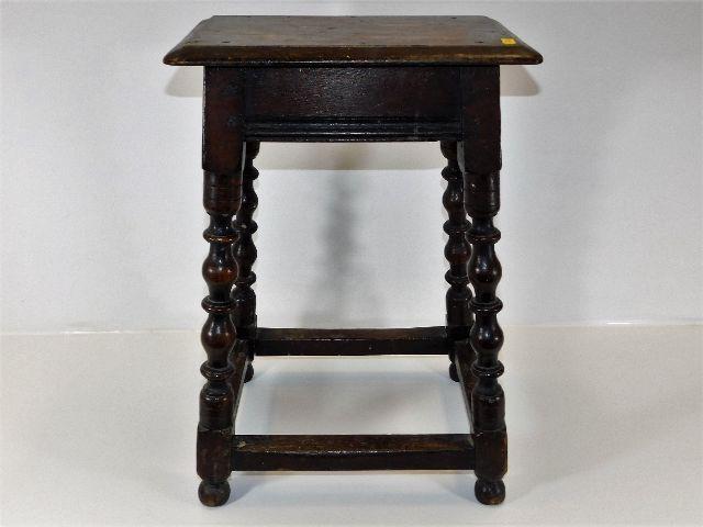 Lot 87 - A Victorian oak stool