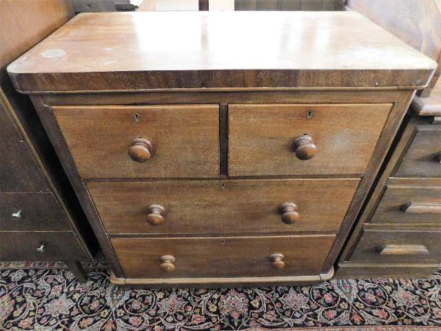 Lot 78 - A low level chest of drawers 33in wide x 36in high