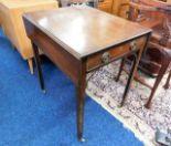 Lot 51 - A small mahogany Pembroke table
