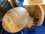 Lot 58 - A Peter Blomfield ash pedestal table & chair