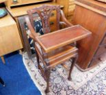 Lot 52 - A mahogany childs high chair with carved decor