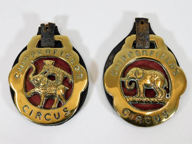 Lot 106 - A pair of vintage Chipperfield Circus horse brasse