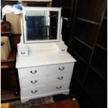Lot 63 - An early 20thC. painted dressing table