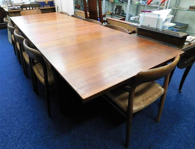 Lot 37 - A mid 20thC. retro Finn Juhl teak extending table