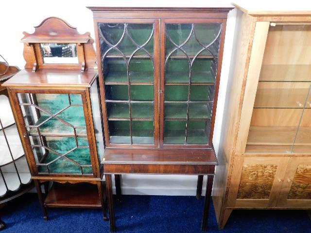 Lot 82 - A mahogany china display cabinet